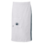Damen-Sarong Black & White 001 weiss