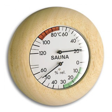 Sauna-Thermo-Hygromether rund